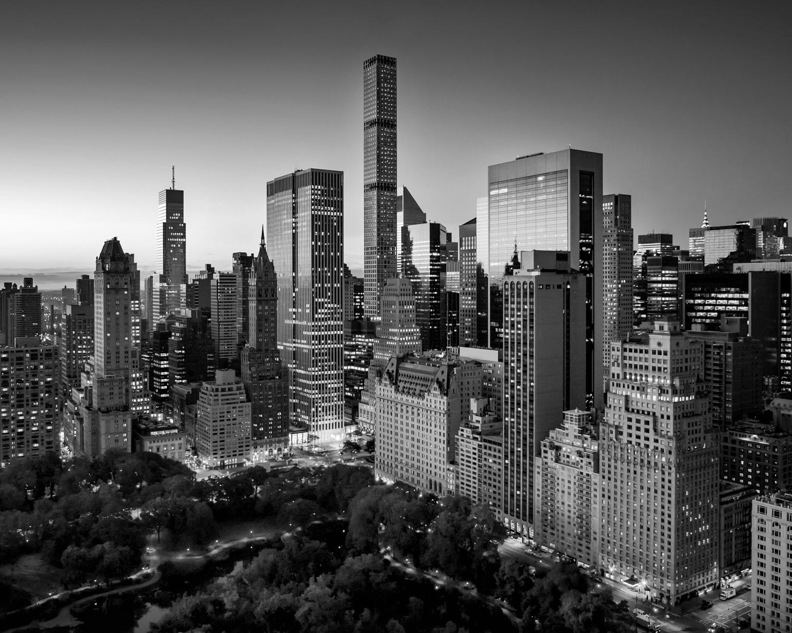 Black & White photo of New York city