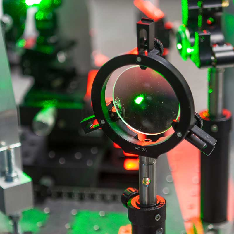 Laser in a quantum optics lab