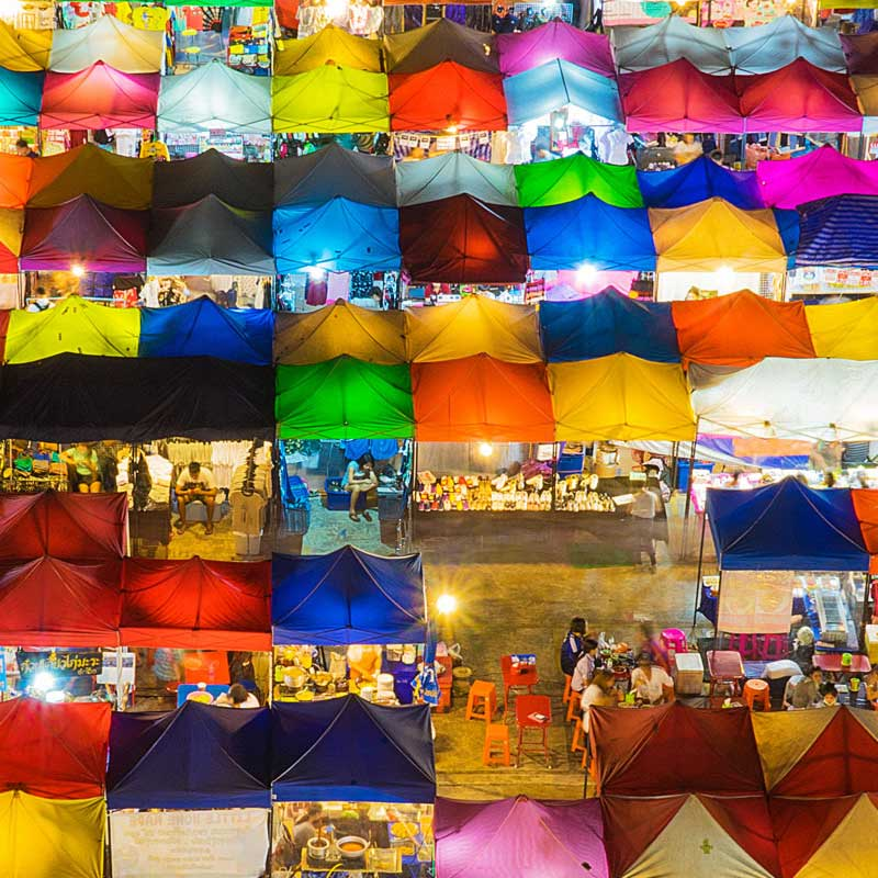 Colorful night market