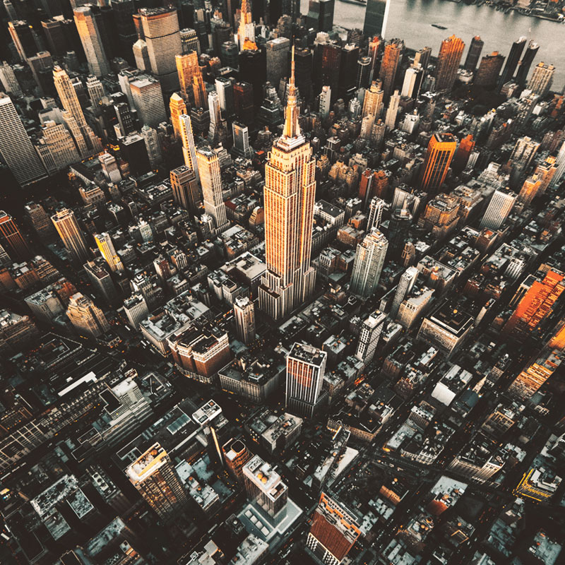 aerial photography of Empire State Building in New York