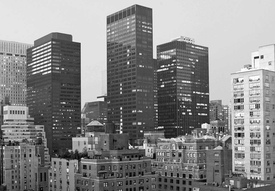 Black & white photo of New York
