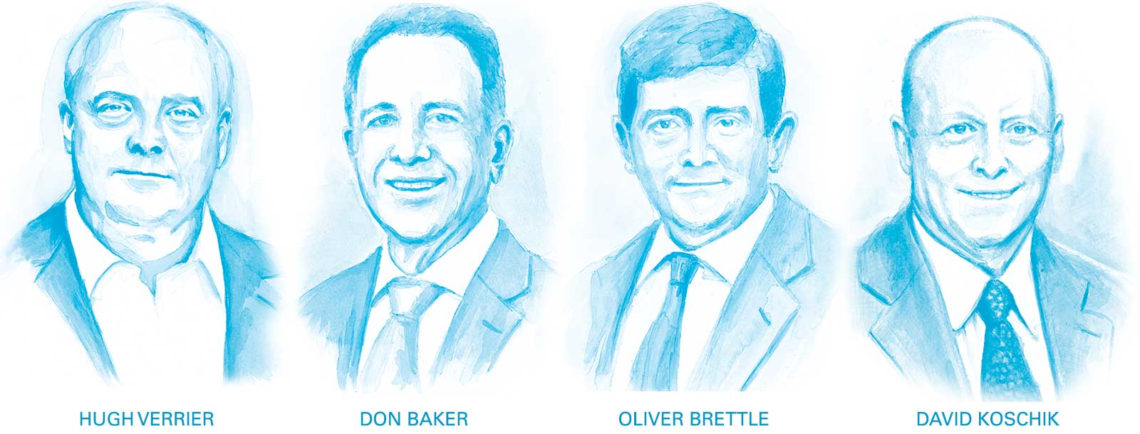 Portraits of the executive leadership