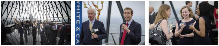 London Office Holds Alumni Event Atop Iconic Gherkin Building
